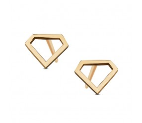 Kolczyki kształt Diament. Żółte Złoto 0,585.