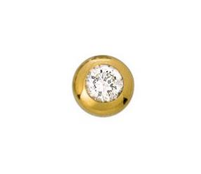 element do pierścionka stal chirurgiczna 588-2 pozłacany z cyrkonią Swarovskiego