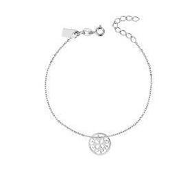 Bransoleta celebrytka srebrna pr. 925 zawieszka ażurowe kółeczko