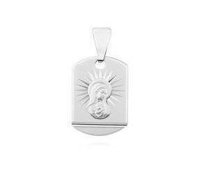 Srebrny Święty (pr.925) medalik Matka Boska Madonna