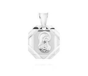 Srebrny (pr.925) medalik Matka Boska Madonna