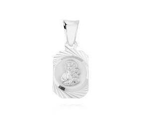 Srebrny medalik pr.925 Matka Boska Częstochowska z Jezusem