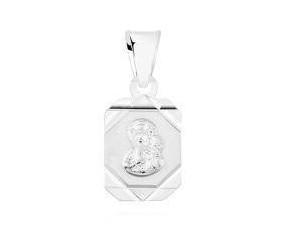 Srebrny medalik podłużny pr.925 Matka Boska Częstochowska