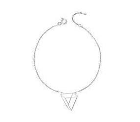 Srebrna bransoletka pr.925 - Origami trójkąt styl