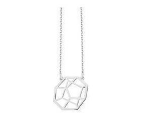 Delikatny Srebrny naszyjnik pr.925 - styl Origami wielościan