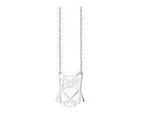 Srebrny naszyjnik delikatny pr.925 - styl Origami sowa