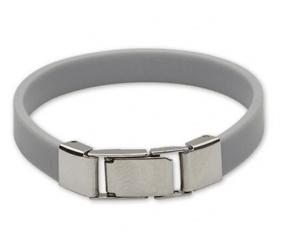 bransoletka silikonowa 611-13 dla dzieci szara