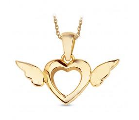 Staviori Wisiorek Serce ze skrzydłami Srebro 0,925 pokryte żółtym złotem
