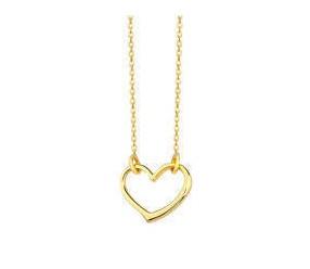 Srebrny naszyjnik pr.925 z zawieszką serce, pozłacany