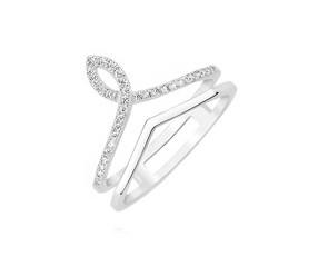 Srebrny pierścionek diadem pr.925 korona z cyrkoniami
