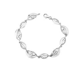 Srebrna bransoletka pr.925 Cyrkonia biała ozdobna
