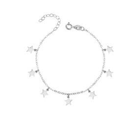 Bransoletka ze srebra łańcuszek pr. 925 gwiazdki