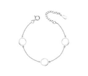 Srebrna pr.925 bransoletka - trzy okręgi