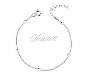 Srebrna bransoletka pr.925 łańcuszek z kuleczkami