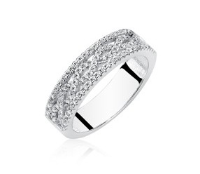Srebrny pierścionek pr.925 z cyrkoniami