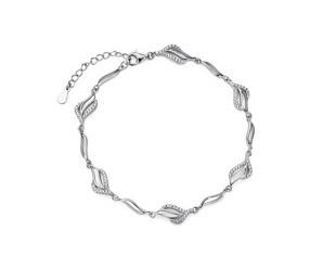Srebrna, piękna bransoletka pr.925 z cyrkoniami