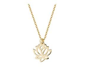 Srebrny naszyjnik pr.925 pozłacany kwiat lotosu