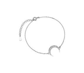 Srebrna pr.925 bransoletka - księżyc z cyrkoniami
