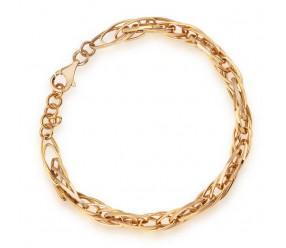 Staviori Bransoleta ozdobna z Żółtego Złota 0,333. Szerokość 5,5 mm. Długość regulowana 19cm lub 18cm.
