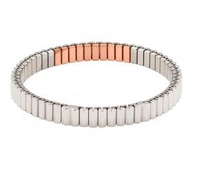 bransoletka magnetyczna stal chirurgiczna elastyczna 3519-1, 2400 Gaussów, polerowana z miedzią