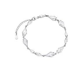 Srebrna, stylowa, ślubna bransoletka pr.925 z cyrkoniami