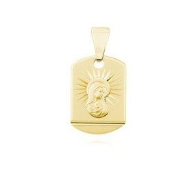 Srebrny (pr.925) pozłacany medalik Matka Boska Madonna