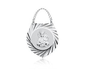Srebrny medalik Ryngraf Matka Boska