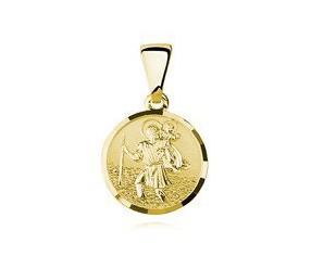 Srebrny pozłacany medalik pr.925 Święty Krzysztof