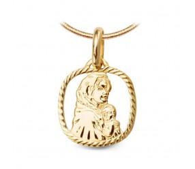 Staviori Medalik matka Boska. Żółte Złoto 0,585. Wysokość 14,50 mm.