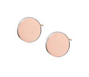 Srebrne kolczyki pr.925 kółka pozłacane - różowe złoto