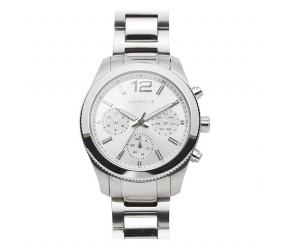Zegarek magnetyczny stal szlachetna 3183-1 srebrna tarcza wielofunkcyjna