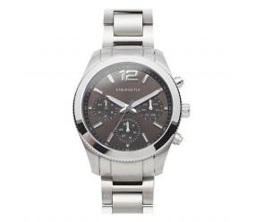 Zegarek magnetyczny stal szlachetna 3183-2 szara ciepła tarcza wielofunkcyjna