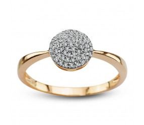 Staviori Pierścionek. 57 Diamentów, szlif achtkant, masa 0,11 ct., barwa H-I, czystość SI2-I1. Żółte Złoto 0,585.