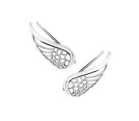 Srebrne kolczyki nausznice - skrzydła